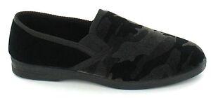 Spot On X2011 Men's Black Camouflage Pattern Full Slippers