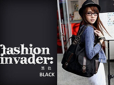 Large Canvas Women's Tote Bag Shoulder Handbag Messenger Satchel Shopping Purse