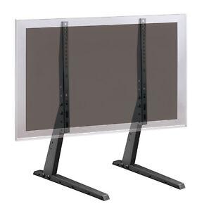 LED-Fernseh-Geraete-Fuss-Tischfuss-Staender-Standhalter-Halterung-bis-70-034-schwarz