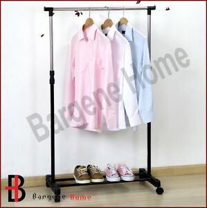 PORTABLE-STAINLESS-STEEL-CLOTHES-ORGANIZER-HANGER-RACK-CLOTH-COAT-GARMENT-DRYER