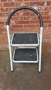 Ollieroo Step Stool En131 Steel Folding 2 Step Ladder With