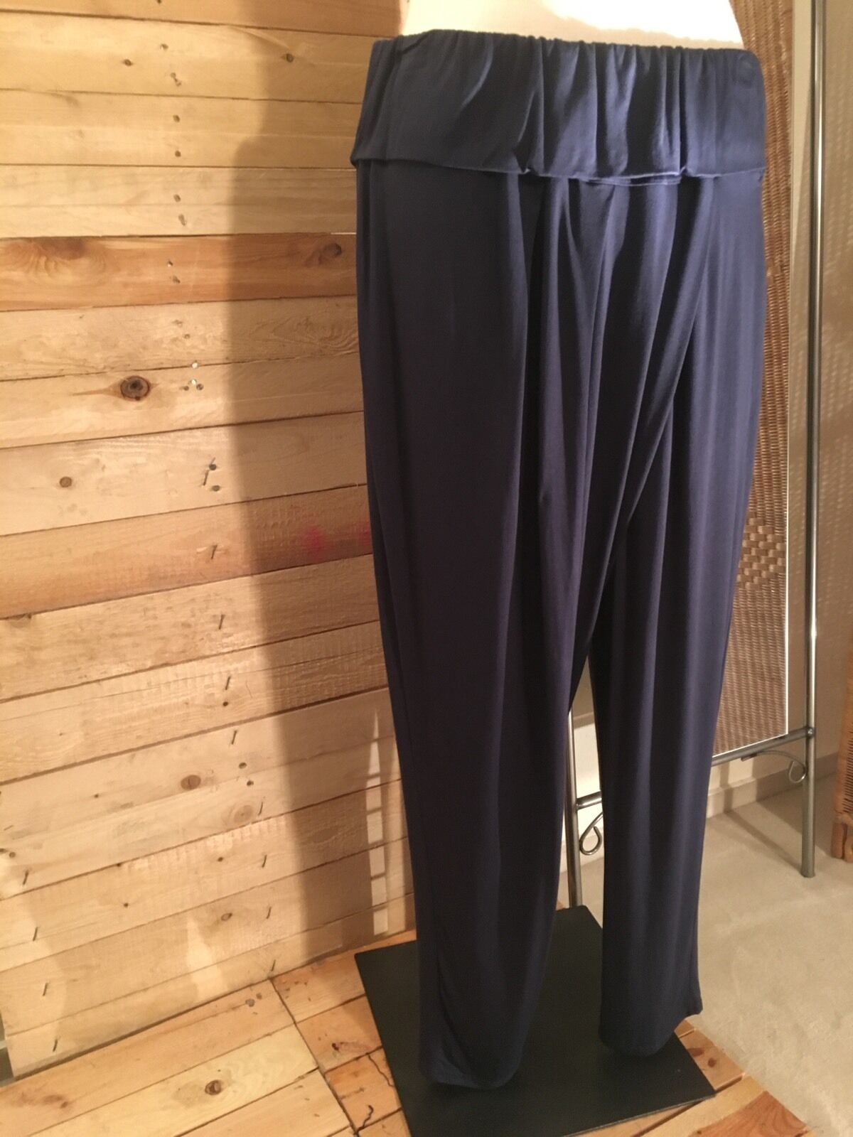 Jean Marc Philippe traumhafte Lagenlook-Hose, Gr 54 56 (T8), Farbe  blue
