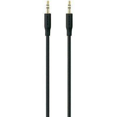 Belkin 5m Audio Portable AUX Cable 3.5mm Male/ Male Gold Plated Black