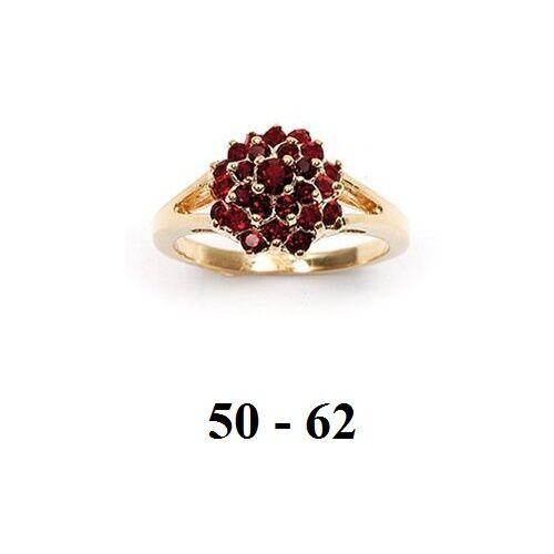 Dolly-Bijoux Bague Femme T54 Choux-Fleur 3D Rubis Cz Plaqué Or 18K 5 Microns