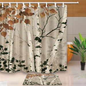 Image Is Loading Hand Painted Birch Forest Fall Autumn Fabric Waterproof