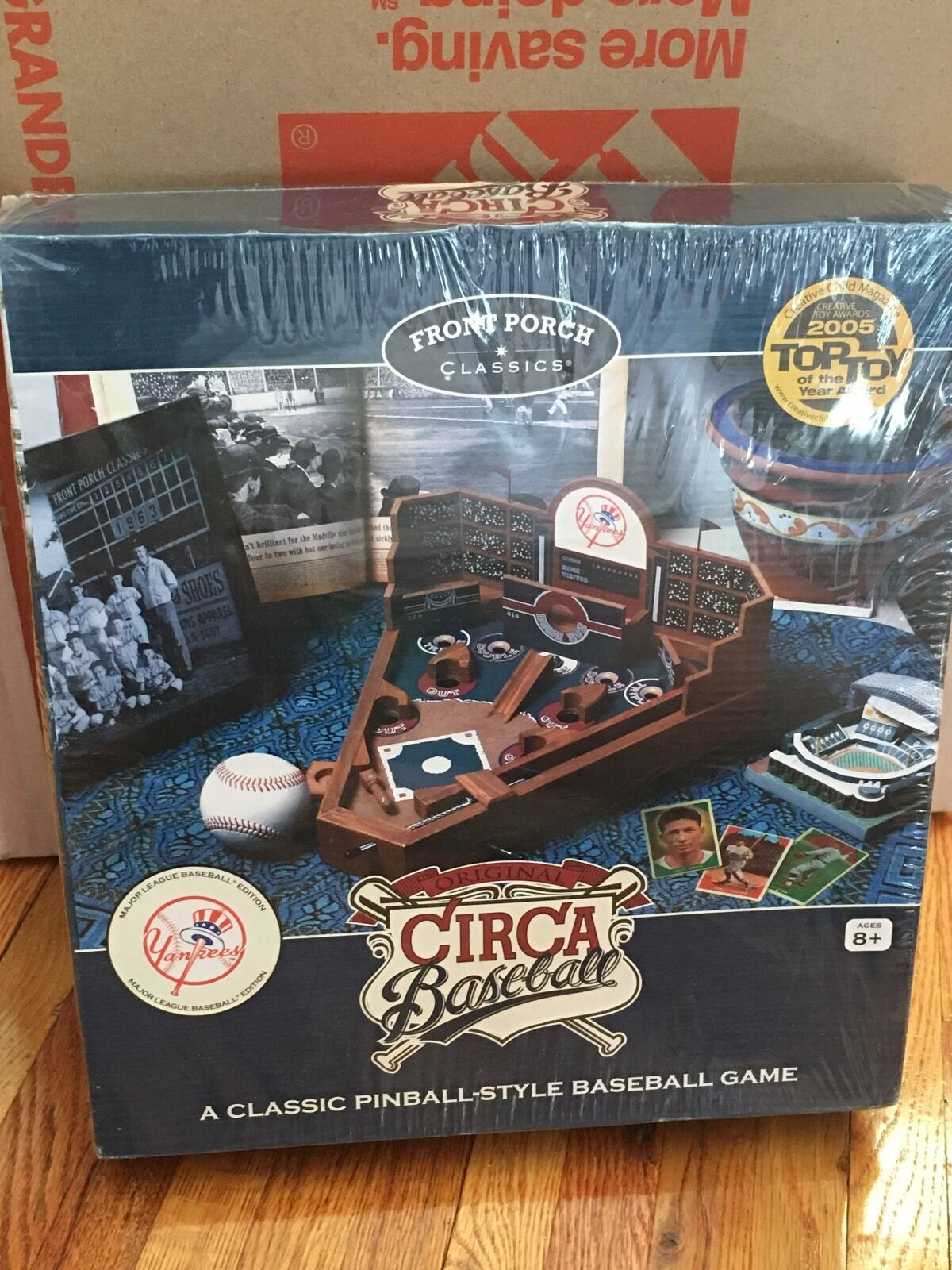2007 davanti Porch  classeics nuovo YORK YANKEES Circa Basebtutti PINBtutti gioco WOODEN    spedizione gratuita!