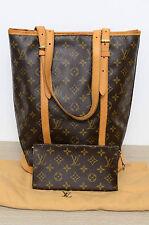 Louis Vuitton LV Bucket GM Shoulder Bag w/ Pochette Dustbag Used Authentic