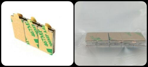 20 Neodymium Power Glue Magnets 10x5x1 mm Ndfeb N45 Self-Adhesive 700 G 3M 467