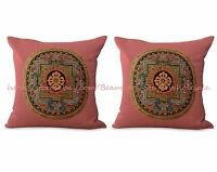 Us Seller- Set Of 2 Decorative Throw Case Cushion Cover Tibetan Buddhism Mandala