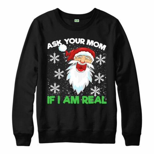Top Gracioso Grosero Regalo De Navidad Pregúntale a tu mamá si estoy muy Gracioso Navidad Jumper