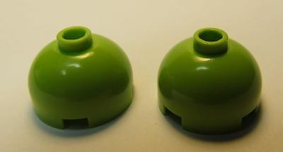 2 Round 2 x 2 Dome Top 553b LIME Brick LEGO Parts~