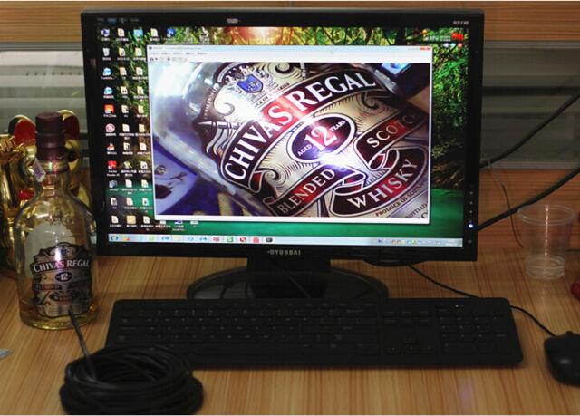 5/7/10/15m Wasserdicht USB Endoskop Rohr kamera Inspektionskamera 4 LED
