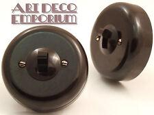 Rolls Vintage Bakelite Toggle Light Switch 1Way 1Gang Restored