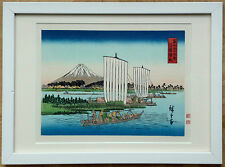 Japanischer Holzschnitt, Utagawa Hiroshige, japanese woodcut, Fuji