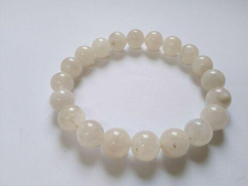 Schönes Armband aus Mondstein erhältlich mit 8,5 mm oder 10 mm Mondsteinkugeln