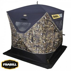 Frabill fishouflage 2 3 man thermal ice fishing shanty for Frabill ice fishing