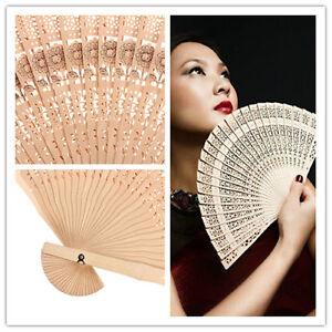 Retro-Chinese-Japanese-Style-Hohle-Folding-Bamboo-Holz-geschnitzten-Fan-Geschenk
