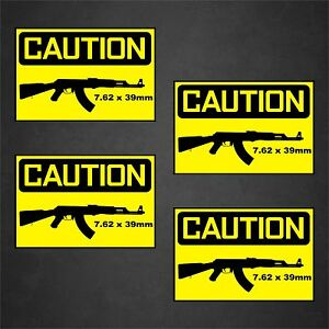 4 warning sticker caution decal car window home defense danger