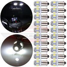 20Pcs T11 BA9S 5050 5 SMD Xenon White High Power LED Light Bulb Car DC12V Lamp