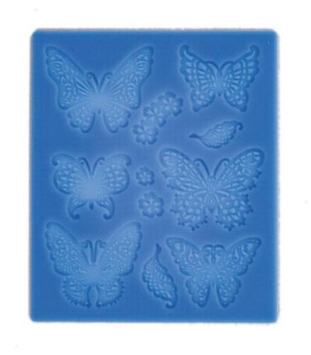 DEKORMATTE Universal flache Relief-Gießform aus Silikon für Pasten CREARTEC