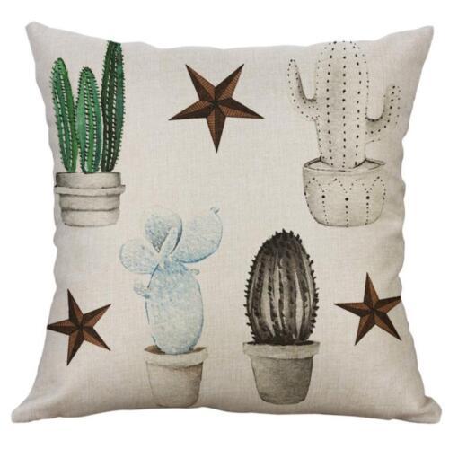 Cotton Linen Square Home Decorative Throw Pillow Case Sofa Waist Cushion Cover