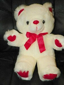 The-PREFERRED-COLLECTION-White-TEDDY-BEAR-1997-Plush-Stuffed-Animal
