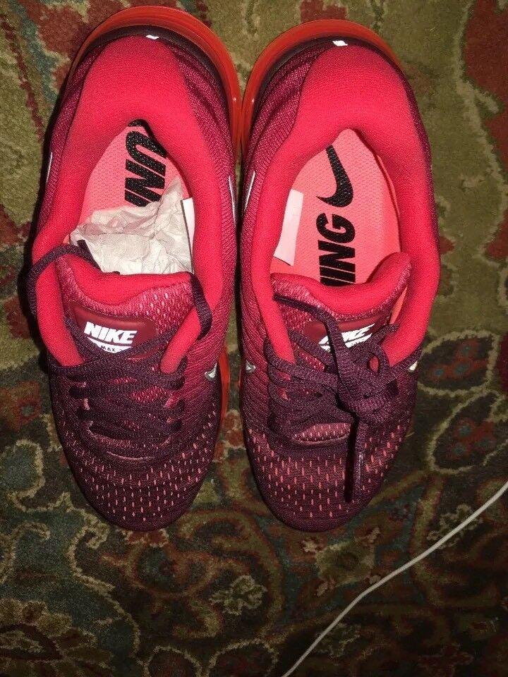 Los hombres de Nike Air Max 2018 zapatos talla granate rojo / blanco talla zapatos 10 e3ffc2