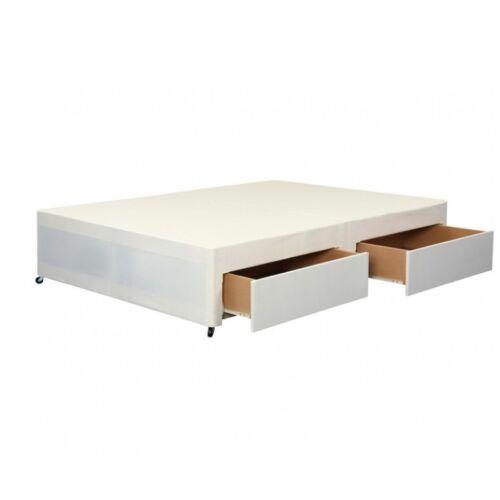 Single Double Choose Storage /& Headboard Cream Divan Bed Base King Size
