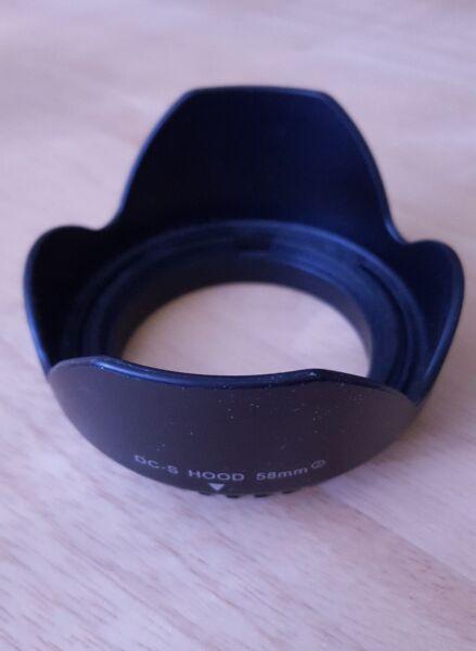 Dc-s Lens Hood 58 Mm Pour Appareil Photo Numérique
