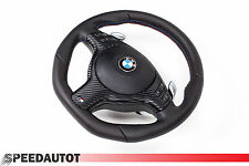TUNING Lederlenkrad + Airbag BMW E39,E46 M3 M5 X5 3,0i UNTEN ABGEFLACHT SMG