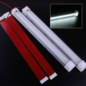 Image Is Loading 2pcs 12V 72 LED Interior White Light Strip
