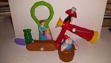 Peter Pan Disney Movie Lot of PVC Plastic Toys