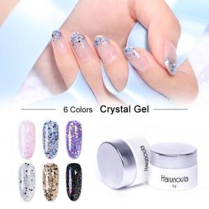 Harunouta-5g-Silver-Glimmer-Nagellack-UV-Gel-Shining-Bling-Nail-Gellack-Varnish