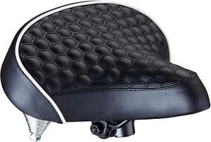 Schwinn Quilted Wide Cruiser Saddle Bicycle Bike Extra Soft Foam Seat Cushy NEW