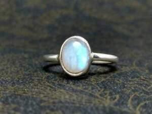Moonstone Ring 925 Sterling Silver Ring Handmade Ring Boho Ring All Size KA-31