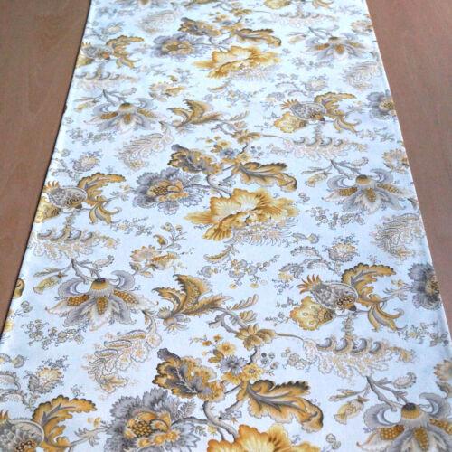 Tischläufer Petula 50 cm x 150 cm gelb//braun 100/% Baumwolle