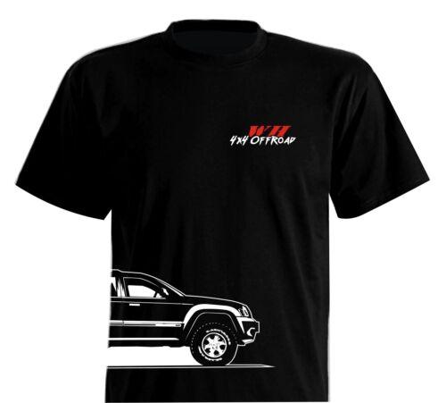 T-Shirt 4x4 Offroad Classic WH Grand Cherokee 3.0 CRD 3.7 4.7 5.7 V8 Hemi Jeep