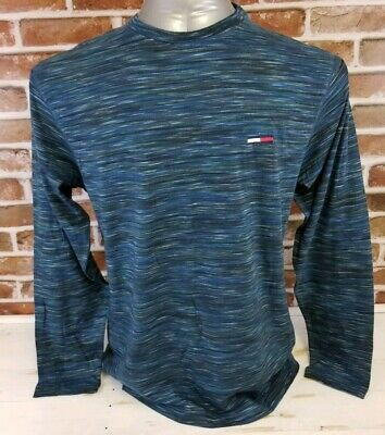 Tommy Jeans Mens Hand Dyed Long Sleeve Pullover Top Shirt Size L Large Men's Clothing