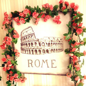 2-x8Ft-Artificial-Fake-Silk-Rose-Flower-Ivy-Vine-Garland-Wedding-Party-9-Colours