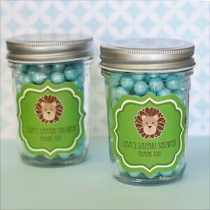 Image Is Loading 96 Personalized Jungle Safari Theme Mini Mason Jars