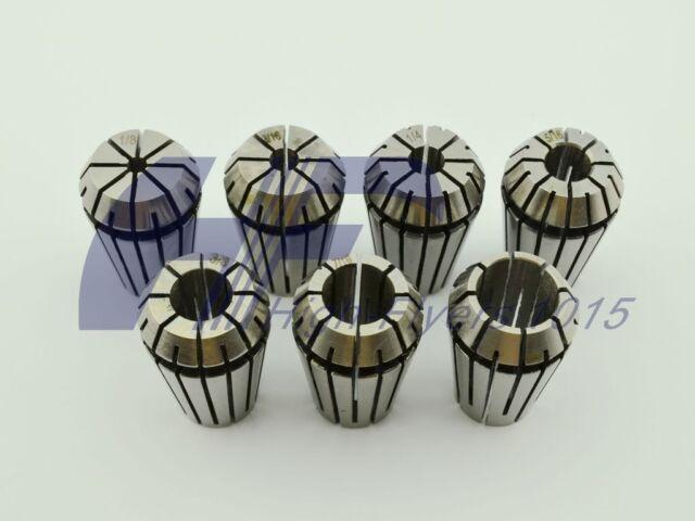 """ER20 7 PCS Spring Collet Set 1/8 - 1/2"""" for CNC milling Lathe w/ 3/16 5/16 7/16"""""""