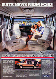 Image Is Loading 1984 Ford Conversion Van Classic Vintage Advertisement Ad