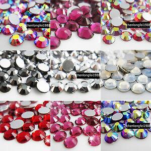 1440PCS-Crystal-DIY-Flatback-Non-Hotfix-3d-nail-art-Rhinestones-Tips-Decoration