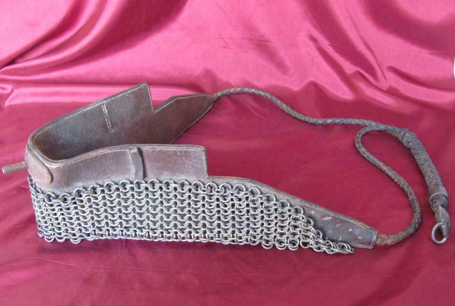 19C. ANTIQUE LEATHER, METAL & Silber HORSE HARNESS V.RARE