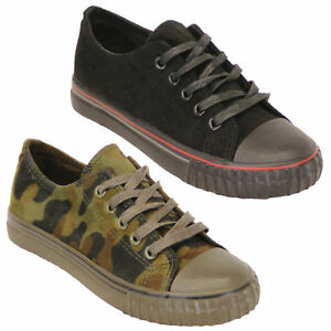 Boys-Girls-Camouflage-Pumps-Kids-Military-Trainers-Lace-Up-Shoes-Casual-Summer