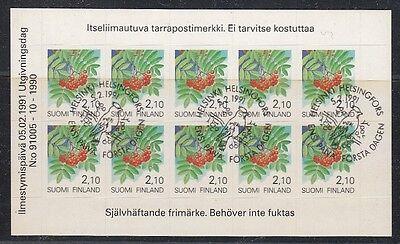 21826 1990 Freimarke Pflanzen 1129 Folienblatt Gestempelt, Wir Nehmen Kunden Als Unsere GöTter Professioneller Verkauf Finnland