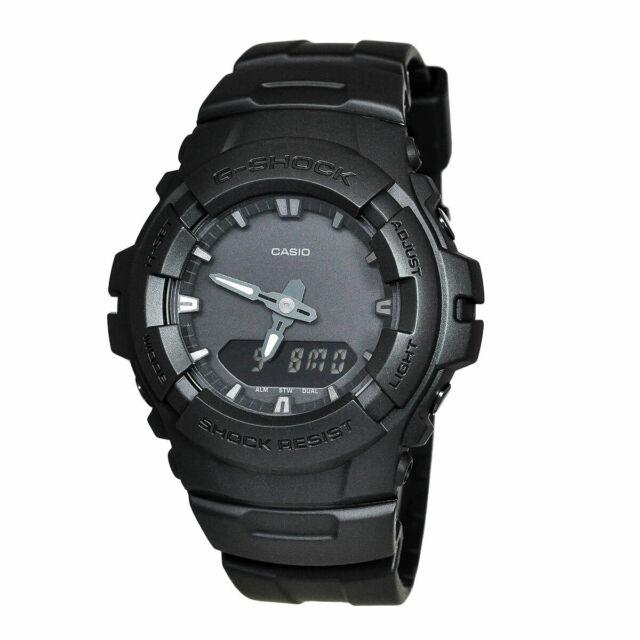 Casio Analog-Digital Sport G-SHOCK Black Mens G-100BB-1A
