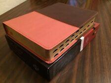 NASB MacArthur Study Bible Indexed - $84.99 Retail - Brown / Orange Leathersoft