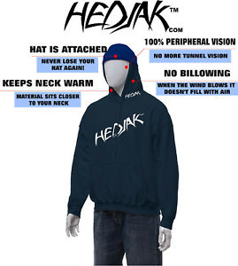 HEDJAK Safety Hoodies Navy Blue Hooded Sweatshirt Youth and Adult