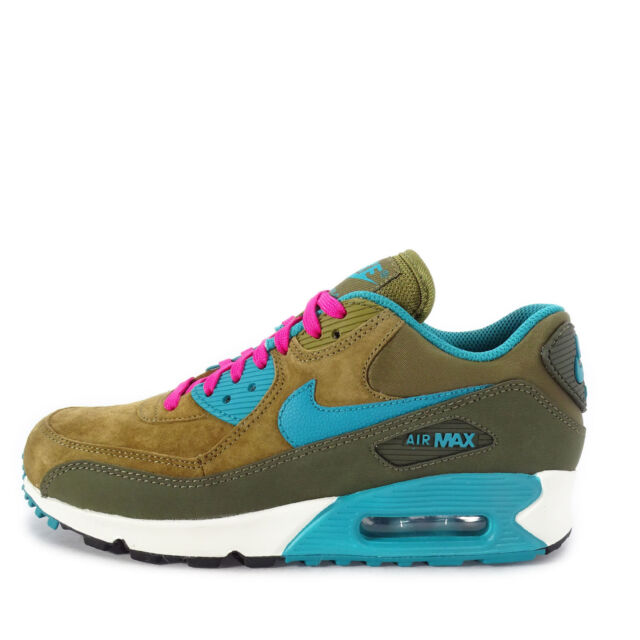 newest collection 8b44c 08fbe WMNS Nike Air Max 90 LTHR Leather Green Blue Womens Running Shoes  768887-300 6
